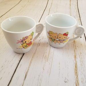 "Set of Two Mugs ""Hello Kitty"" ""Hello Kitty Babies"""